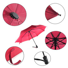 Fashion Fully Automatic Three Folding Umbrella Paraguas Windproof Craft 190T Rainy Foldable Pockets Umbrellas For Adults Kids(China)