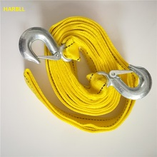 5 Ton 4 Meter Tow Rope For Truck Snatch Strap Off-road Towing Ropes Trailer Winch Cable Belt Car Traction(China)