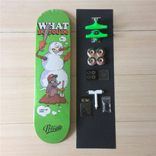 Free Shipping Quality Complete Skateboard Set With Deck Trucks Bearings Hardware Set Riser Pad & Installing Tool Griptape Wheels