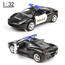 Cheap toy, hot Metal cars,1:32 Alloy Pull back models,Black car,Diecasts & Toy Vehicles,free shipping(China)