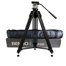 wholesale DHL Pro BENRO KH25N KH-25N Video Camera Tripod Professional Hydraulic Head Magnesium Alloy Tripod+Video Tripods Bag(China)