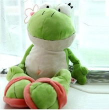 Cute 60cm Frog Soft Toys Stuffed With Plush Toys Toy Manufacturers Doll Gift for Kids Birthday Gift 1pc Free Shipping(China)