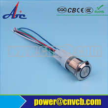 SET108 Aliexpress/Ebay/Amazon 16mm IP67 ring led reset metal button switch with harness set 150mm wire(China)