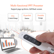 Kkmoon 2.4GHz Wireless PowerPoint Clicker Remote Controller Flip Pen Pointer Handheld PPT Presenter Unibody 10m Controlling Rang