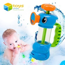 Baby Shower Bath Toys for Children Kids Bathtub Bathroom Swimming Pool Hippocampus Spray Water Pump Beach Toys Educational Gifts(China)