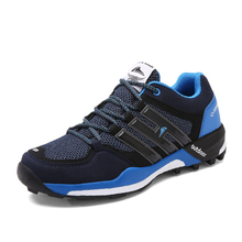 2017 Trail Running Shoes Men Breathable Athletic Gym Sneakers Blue/Black Man Trainers Sport Shoes Brand Walking Jogging Shoes