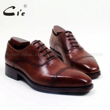 cie Square Cap Toe Bespoke Custom Handmade Goodyear Welted Calf Leather Outsole Men's Dress Lace-Up Oxford Color Black ShoeOX516(China)