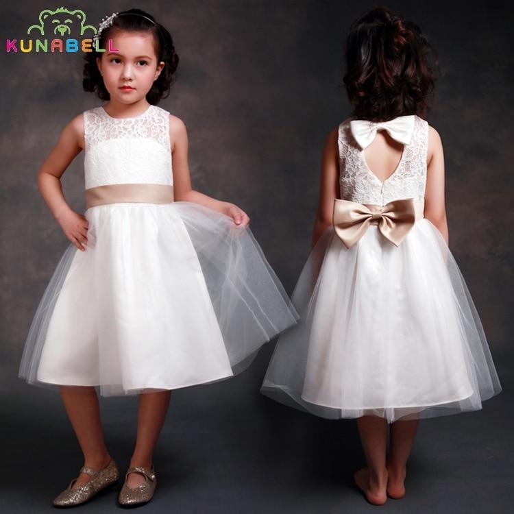 Baby Girl Formal Dress Brand Gown Birthday Wedding Party Princess Dresses Kids White Tutu Mesh Costume Children Clothes D1<br>