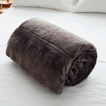 Papa&Mima Dark Brown multifunctional Blankets Plaid soft Coral Fleece Fabric Throw with Brand Fashion Pattern