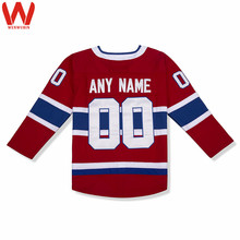 Custom Made Men/Women/Youth High Quality Stitched Logos&Name&Number Hockey Jerseys Big&Tall Size Color Red White(China)