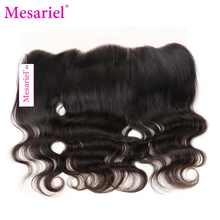 Mesariel Remy Hair Brazilian 13x4 Lace Frontal Free Shipping Natural Color 100% Human Hair Body Wave Lace Frontal Closure(China)