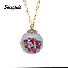 2017 new design summer style glass beads necklaces&pendants vintage simple colourful star statement cute necklace for women(China)