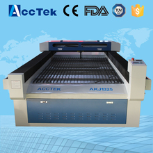 Acctek 1325 garments co2 laser cutting machine /co2 laser engrave equipment