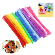 100pcs Montessori Math Educational Toy Chenille Sticks Puzzle Craft Children Kid Pipe Cleaner Stems Craft Creative Toys