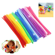 100pcs Montessori Math Educational Toy Chenille Sticks Puzzle Craft Children Kid Pipe Cleaner Stems Craft Creative Toys(China)