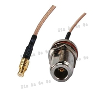Factory sales RF Coaxial cable N to MCX connector N female to MCX male Plug RG316 Pigtail cable 15cm free shipp