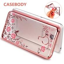 CASEBODY Meizu M5 Note Cover Meizu M6 Note MX5 MX6 U20 U10 Pro6 Pro7 Plus Note6 Note5 Case Flora Diamonds Soft Cases