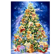 Decoration 3D diamond embroidery Christmas Tree Bear Gift Diamond Painting Christmas Gift Rhinestones round Set Embroidery YZ225