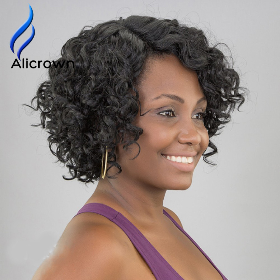 10a Malaysian Full Lace Front Wigs With Baby Hair Alicrown Short Human Hair Wigs For Black Women Full Lace Human Hair Wigs Curly<br><br>Aliexpress