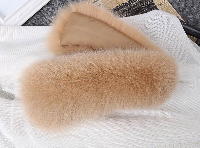 fox fur collar beige 6