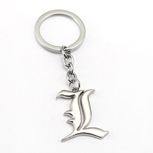 Death Note Keychain Cross Key Chain Hot Anime Key Ring Holder Pendant Chaveiro Jewelry Souvenir YS10145(China)