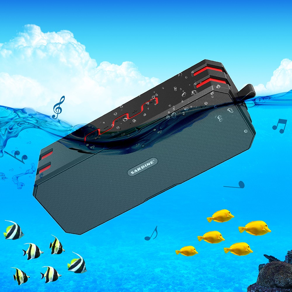 Original Sardine Portable Outdoors Wireless Waterproof Bluetooth Speaker Support TF card player With 2600MAH power bank function