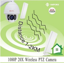 1080P Wireless High Speed Dome IP PTZ Camera 20x Optical Lens 20x digital zoom Auto focus H.264 200M IR Support ONVIF