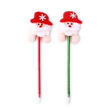 New Year 1pcs Christmas Santa Claus Blue Ink Ball Pen Ballpoint children shcool prize gift wholesale(Random Color)(China)