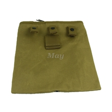 Wholesale Fold Mag Recovery Pouch Tactical Molle Belt Magazine Pouch Outdoor Hunting Shooting Military Reloader M4 Mags Bag Tan(China)