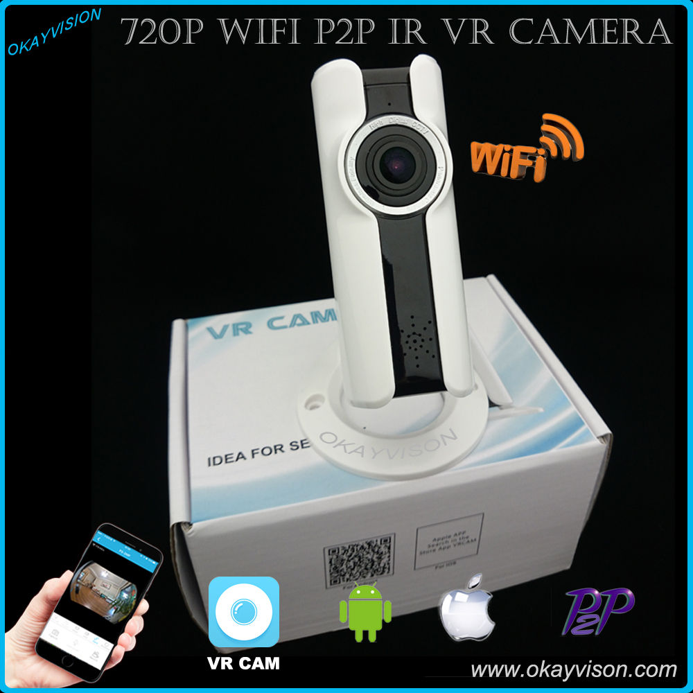 Wifi VR IP Wireless 720P HD Smart 180 Degree panoramic Network Security CCTV Camera Home Protection Surveillance Camera<br>