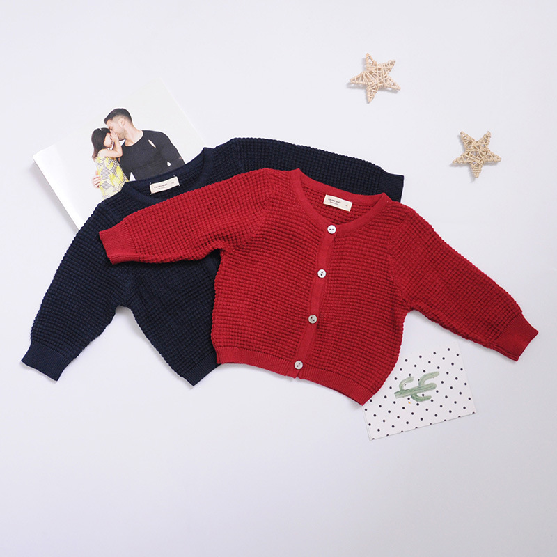 Newborn Baby Cardigan Sweater For Boys Girls Autumn Infant Girl Knied Sweater Clothes Toddler Boy Coon Cardigan Outerwear (4)