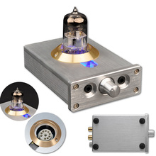 DIY HIFI Headphone Amplifier Fever Level Valve With LED lights Audio Tube For Computer MP4 Lossless Music Player
