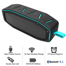 Portable Bluetooth 4.1 Speaker IPX6 Waterproof Wireless Voice Box Double 5W/45mm Driver and Dual Resonator for Music Listening