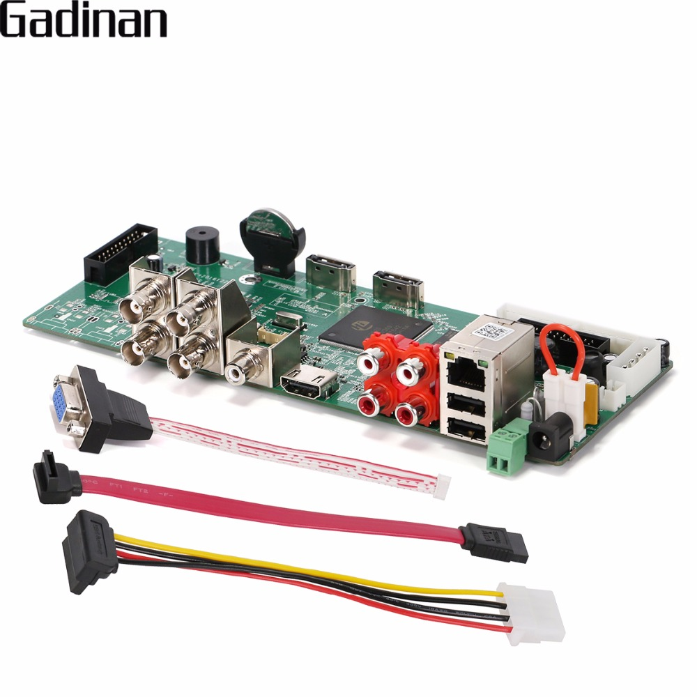 GADINAN CCTV Surveillance AHD DVR 4CH 1080P Real Time Security H.264 TVI CVI AHD Analog IP 5 IN 1 Hybrid Video Recorder Board<br>