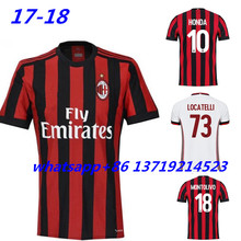 Hot sales 2017 2018 Top Best Qualit AC Milanes Soccer jersey Adult Shirt 17 18 Home Away 3RD 16 17 men shirt Free shipping(China)