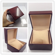 Fashion watch box luxury wood watch box with pillow package case watch Jewelry storage gift box(China)
