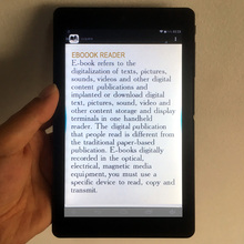ebook reader smart with HD resolution 7inch Touch Screen digital E-book+Video+MP3 music Wifi player E734(China)
