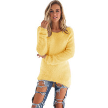 2017 Women Sweater Pullovers Autumn Winter Sweaters Fashion Jumpers High Quality Femme Warm Outerwear Tops Mujer Camisetas New