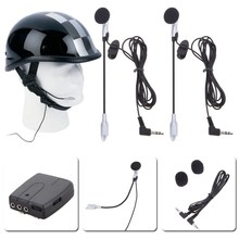 Helmet Headset Motorcycle Helmet Communicator System 2 way Helmet Intercom headset accessories car-styling(China)