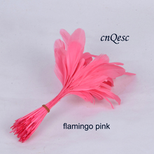 flamingo pink 14-19cm cocktail feather for fascinator/church hat /sinamay hat/party mask/wedding hat races kentucky derby