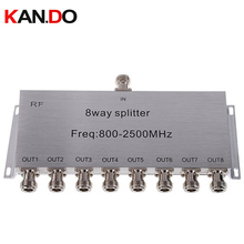 8 Way telecom use Power Splitter (800~2500MHz) power divider,frequency radio splitter,signal divider communication convertor(China)
