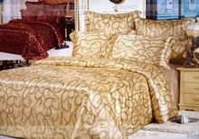 Geometry brown camel Natural mulberry silk  bedding set king size queen s duvet cover bedsheet bed sheet
