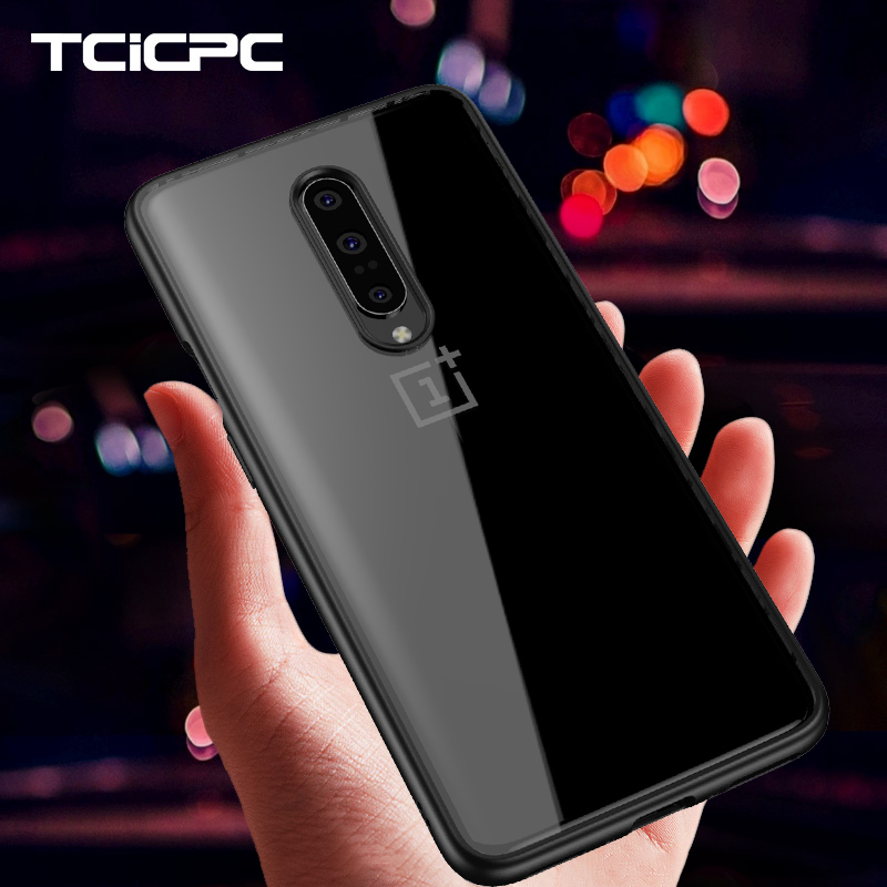 Oneplus 7 Case Oneplus 7 Pro Cases Soft Silicone Frame + Transparency Acrylic Hard Back Cover For Oneplus7 One Plus 7 6 Coque(China)