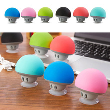 Hot Mini Cartoon Mushroom Wireless Bluetooth Speaker Stereo Music Player With Sucker stand For Smart Mobile Phone