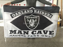 Oakland Raiders MAN CAVE Flag Custom Banner Oakland Raiders USA Team Logo NF Premium Team Football 90x150cm Fan Supper 012