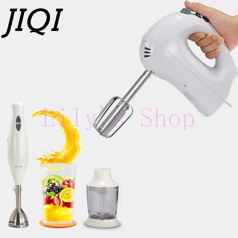 JIQI electric meat grinder Hand Stick blender multifunction baby food mixer stir Fruit juicer eggs Whisk beater food processors<br>