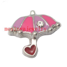 10 pcs cute color umbrella   floating charms for glass locket  FC198.Min amount $15 per order mixed items