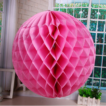 5PCS/Lot Can Mix Colors Tissue Paper Lantern Honeycomb Ball For Home Wedding Birthday Party Bar Baby Shower Decoration Supplies(China)