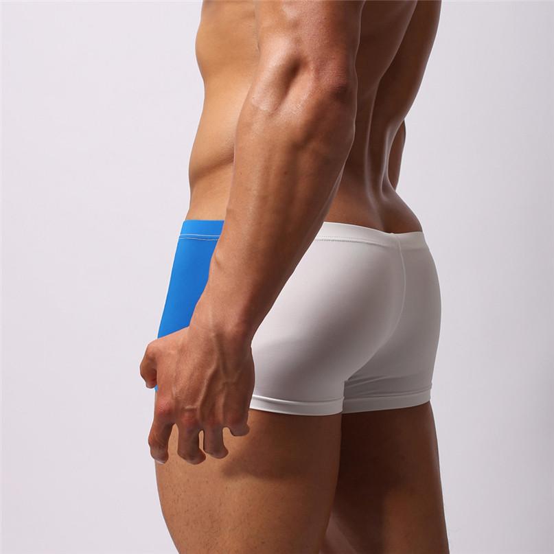Mens Sexy Briefs Swimwear Running Boxer shorts Beach Underwear Trunk Underpants Swim Casual Quick-drying Swimwear New #2J19 (8)