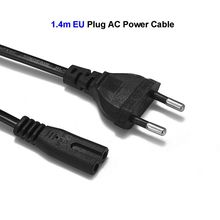 2 Prong Power Cable EU Euro Europe European Plug C7 Figure 8 AC Adapters Power Supply Cord 1.4m For Battery Chargers PSP 3 4(China)